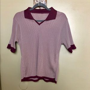 Vintage semi crop spandex fitted top no size tag